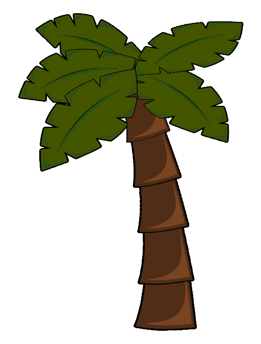 Tree i royalty free. Palm clipart comic