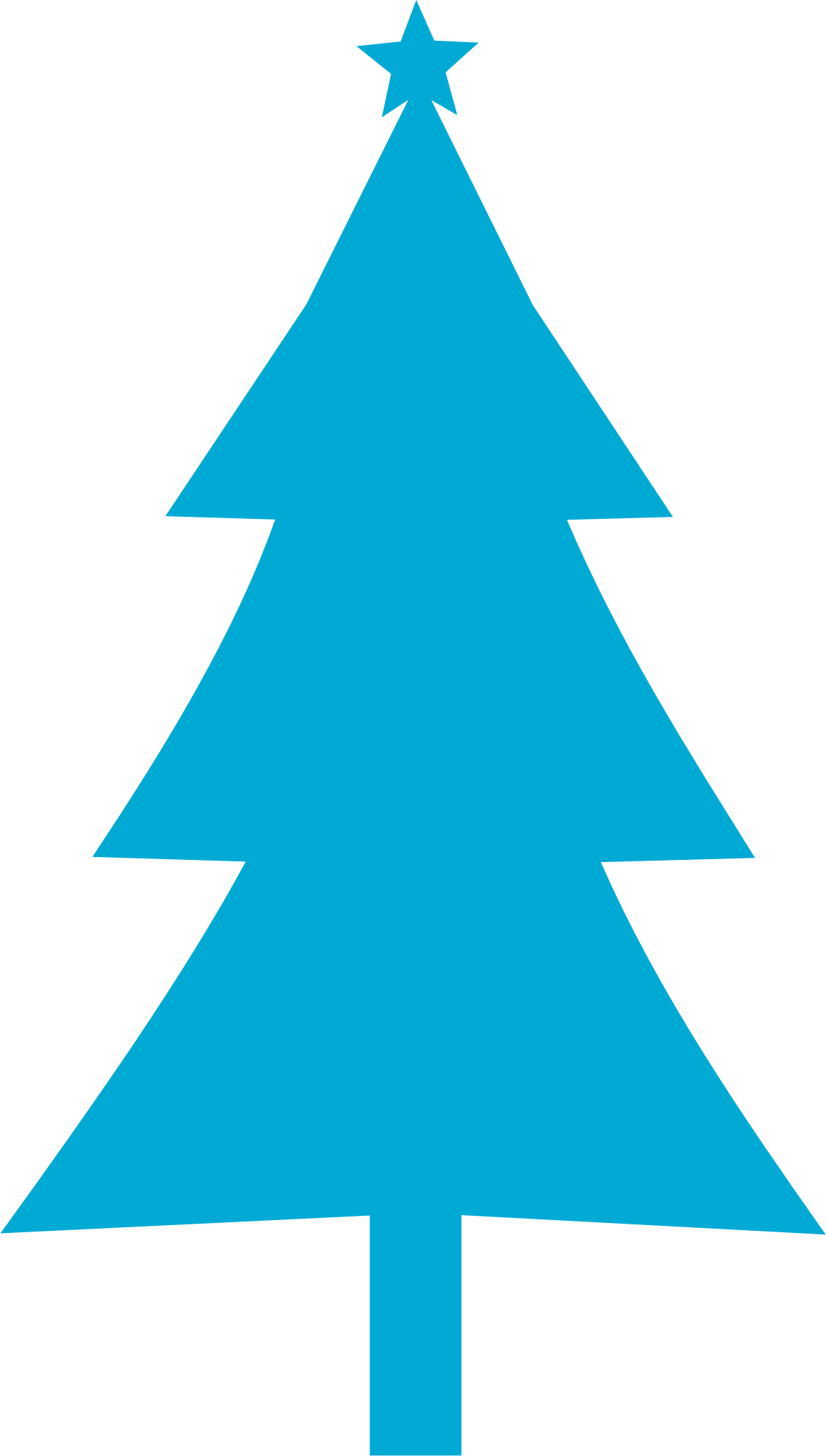 Christmas trees silhouette at. Tree clipart blue