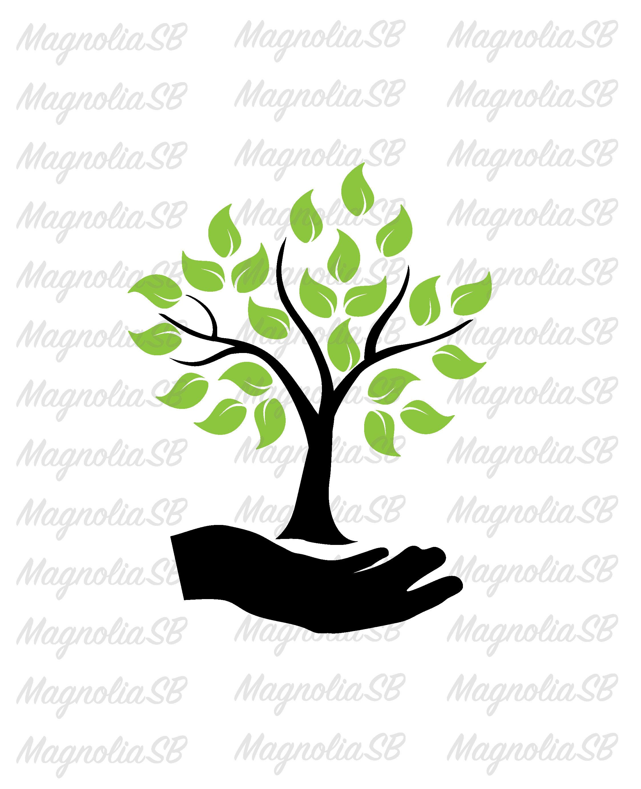 Tree clipart hand holding. Pin on svg dxf
