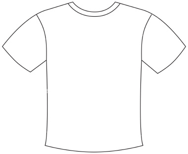 Clipart shirt printable. Free blank t outline