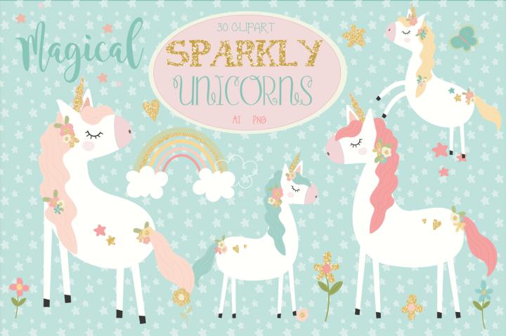 Sparkly unicorns by poppymoon. Drinks clipart unicorn