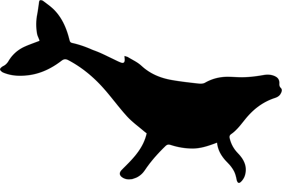 Humpback svg png icon. Clipart whale shape