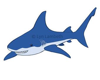 Etsy clip art instant. Clipart shark
