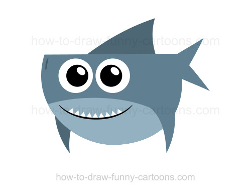 How to draw a. Clipart shark adorable