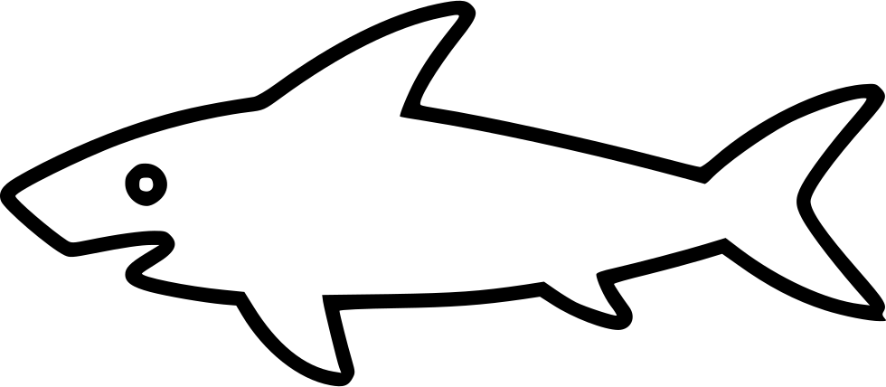 Clipart shark bitmap. Svg png icon free