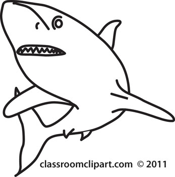 Clipart shark black and white. Clip art wikiclipart