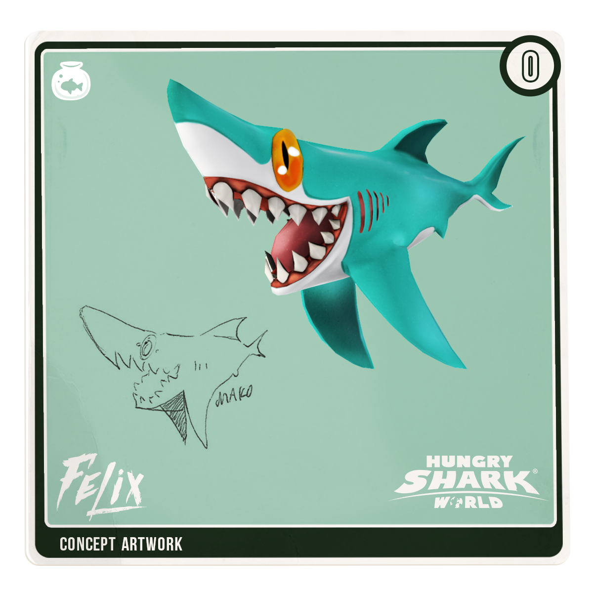 Clipart shark blacktip shark. Concept sharkarium card felix