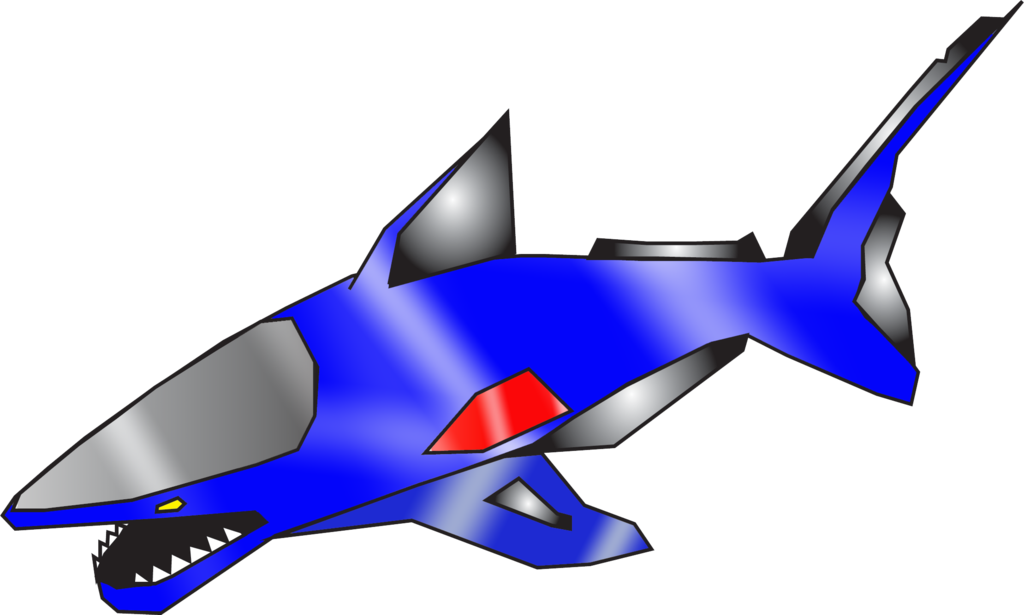 By nobird on deviantart. Clipart shark blue shark
