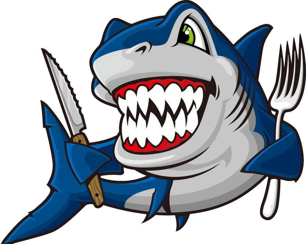 Clipart shark blue shark. Great white clip art