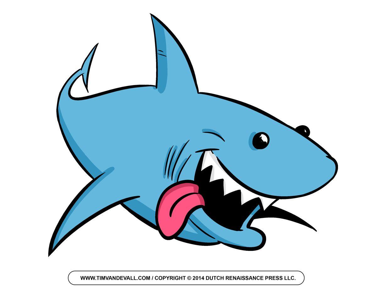 Free outline and . Clipart shark cartoon