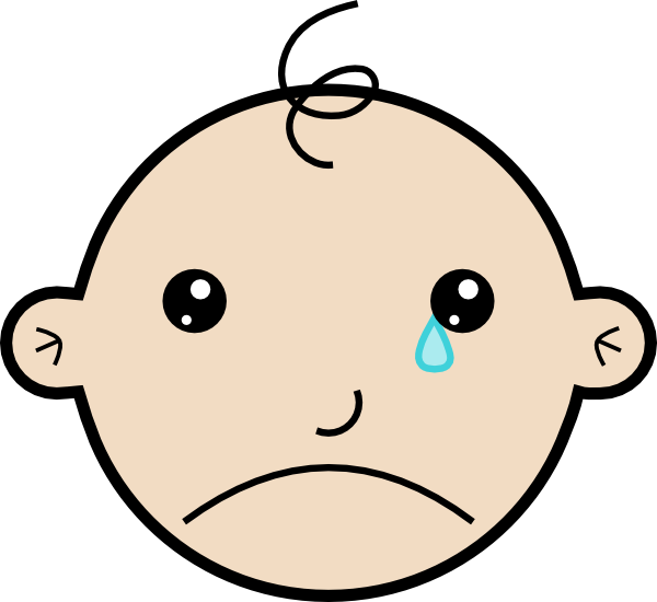 Free cartoon baby picture. Cry clipart animated