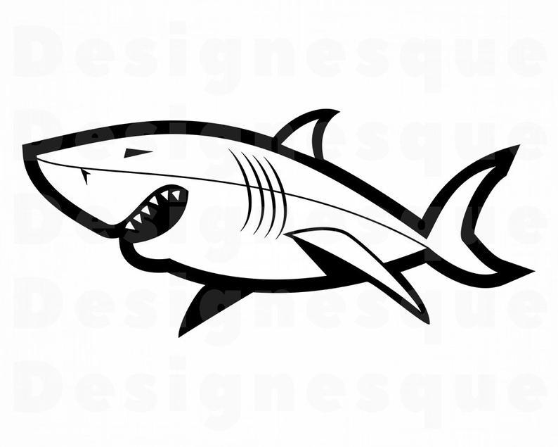Clipart shark file. Svg great white files