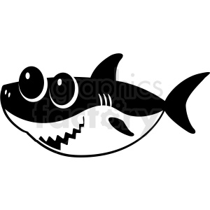 Black and white baby. Clipart shark file