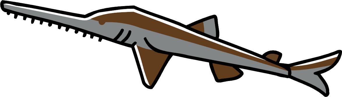 Clipart shark frilled shark. Image saw png scribblenauts