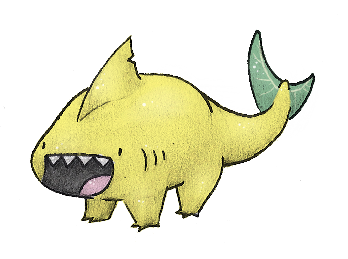 Clipart shark lemon shark. Land by allrocksgotoheaven on