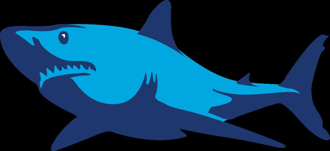 Ecommerce marketing blue fish. Clipart shark mako shark