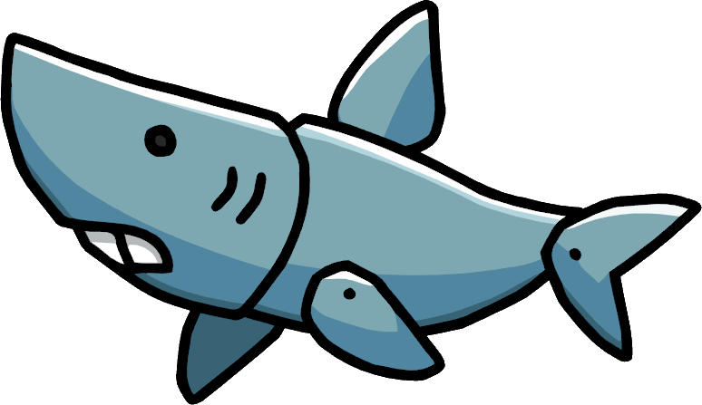 Clipart shark megalodon shark. Image pup png scribblenauts