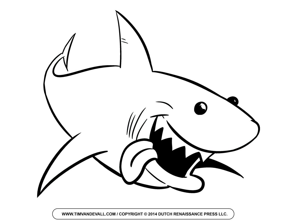 Clipart shark outline. Clip art black and