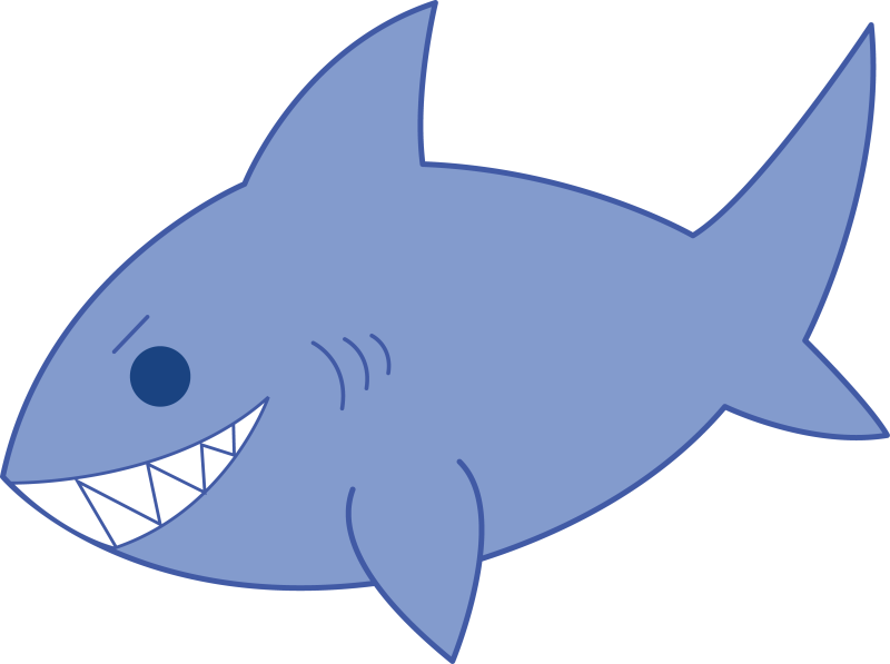 Clipart shark outline. Cliparts free download clip
