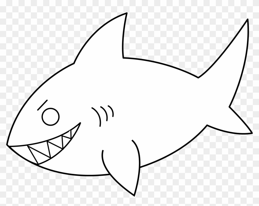 Clipart shark outline. Clip art animal picture