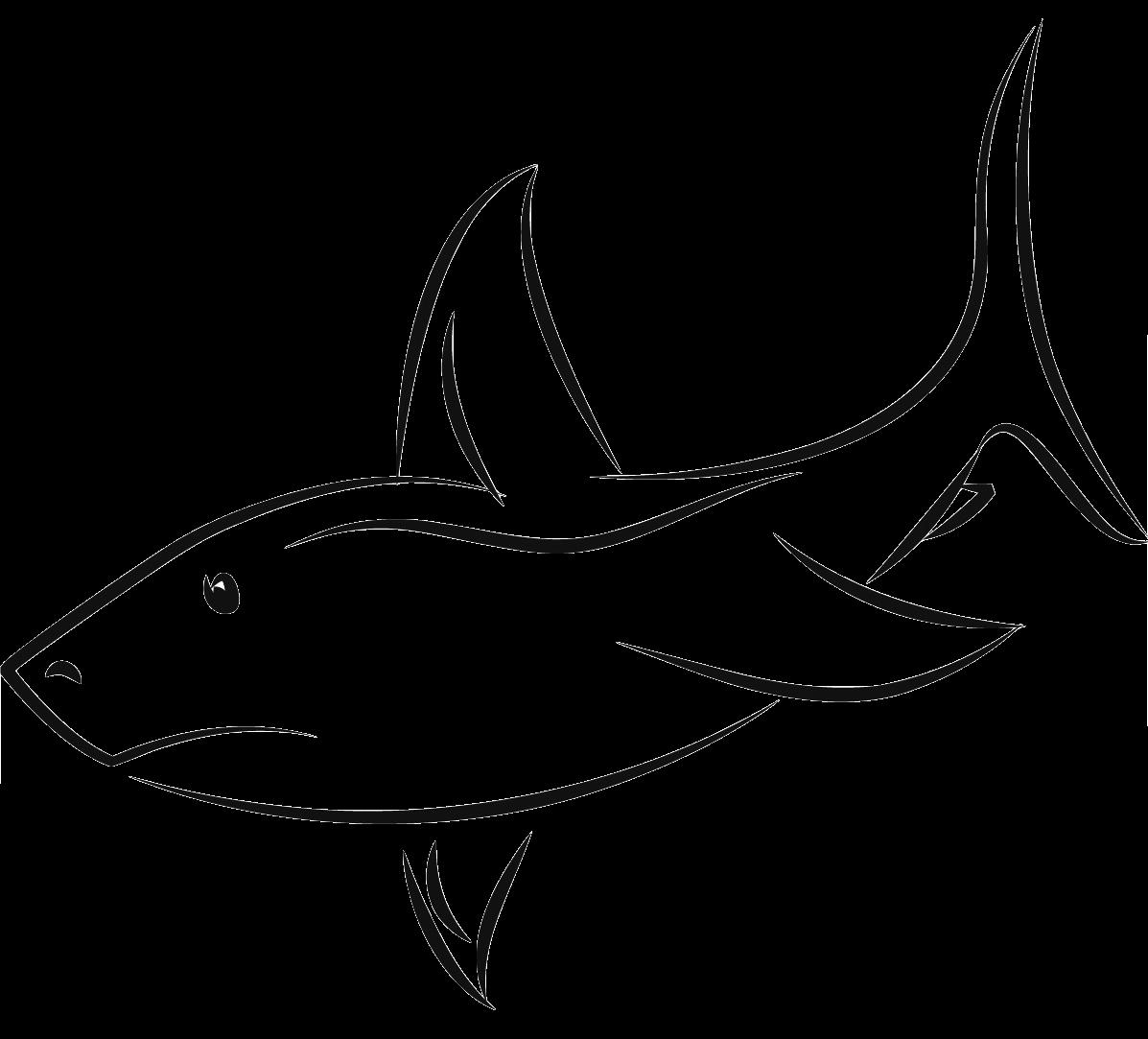Shark outline clipartblack com. Nemo clipart black and white