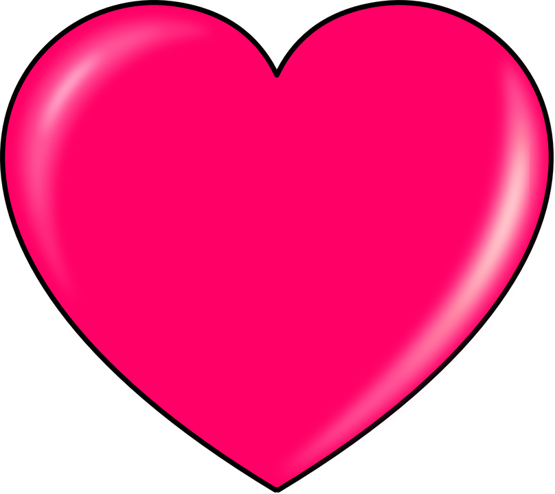 Collection of heart cliparts. Clipart shark pink