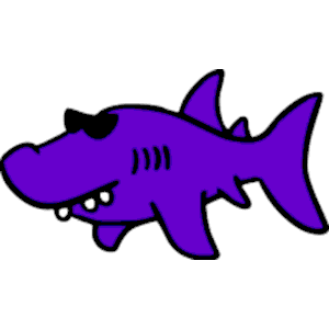 Cliparts of free download. Clipart shark purple