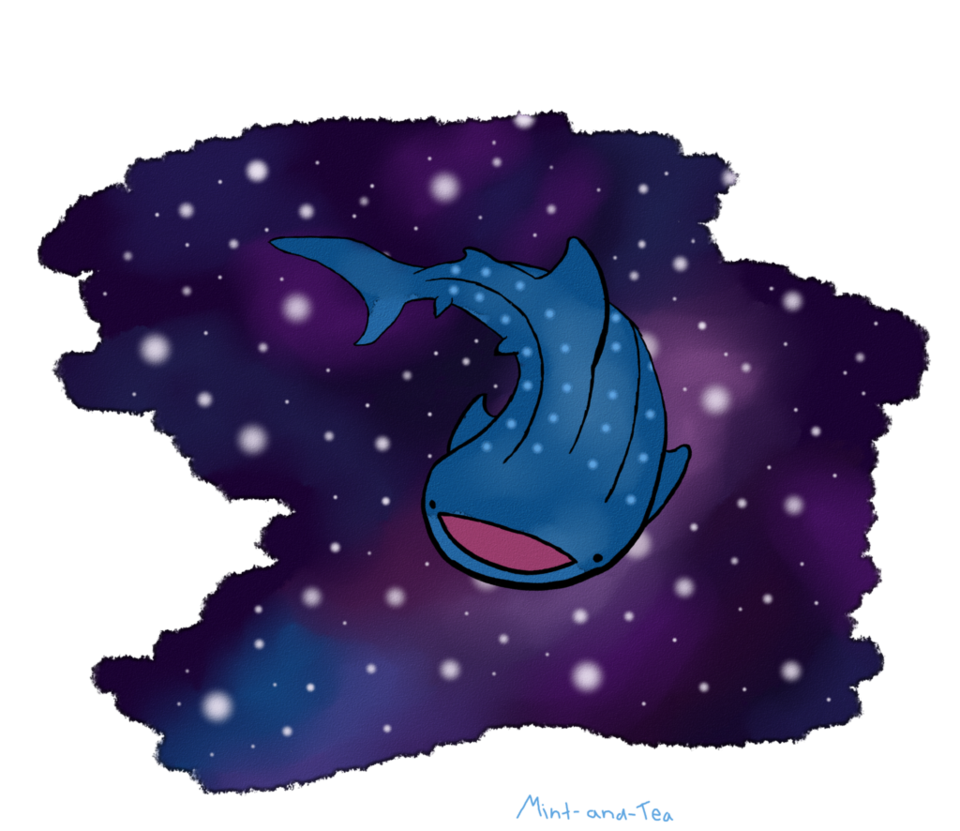 Clipart shark purple. Whale in space by