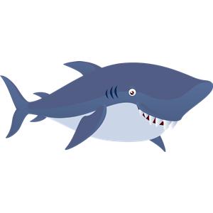 X free clip art. Clipart shark purple