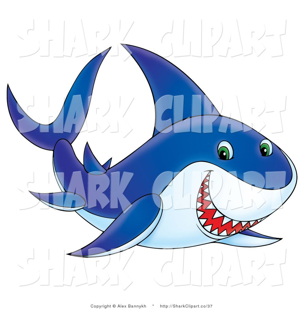 Clipart shark shark swimming. Images grinning and right