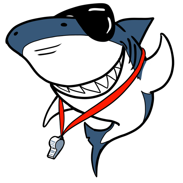 Clipart shark shark swimming. Salt ayre sharks swim