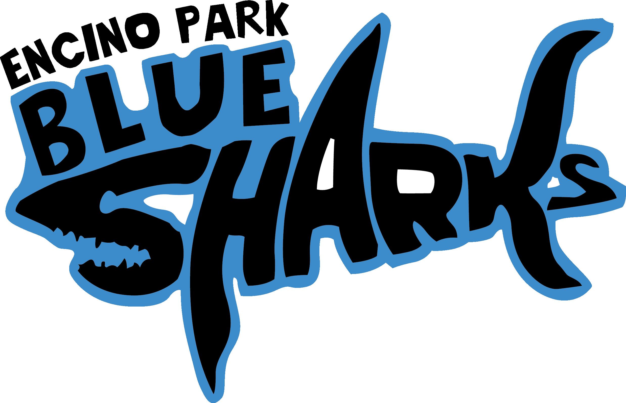 Clipart shark shark swimming. Home encino park blue