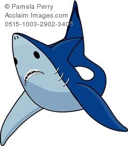 Clip art image of. Clipart shark shark swimming