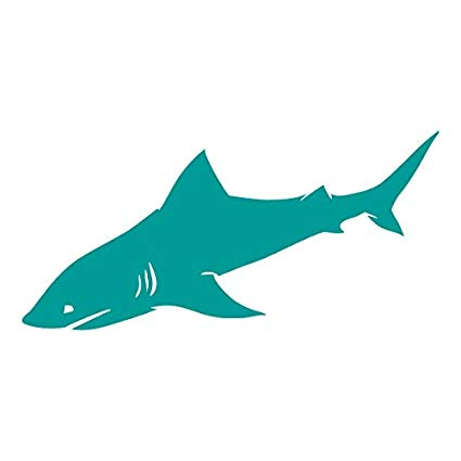 Clipart shark side view. Amazon com detailed fins