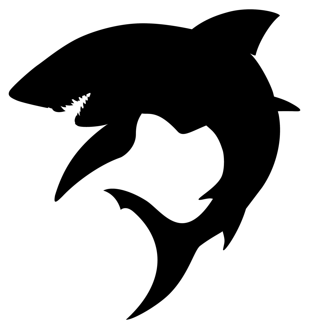 Clipart shark silhouette. Clip art sharks transprent