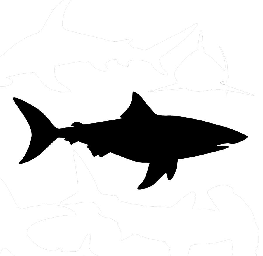 Free download clip art. Clipart shark silhouette