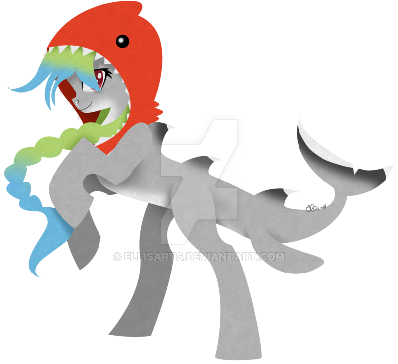 Clipart shark tail. Pony by ellisarts on