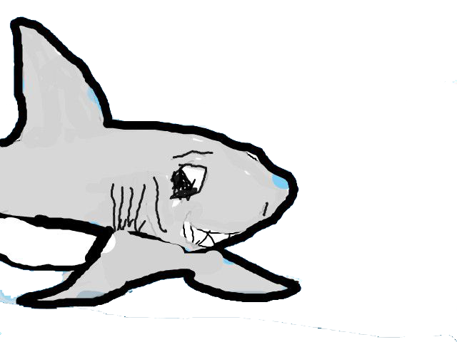 Clip art hand drawn. Clipart shark tail