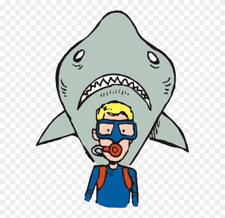 Clipart shark underwater. Scuba diving clip art