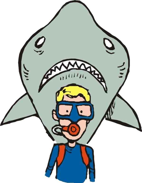 Clipart shark underwater. Diving clip art the
