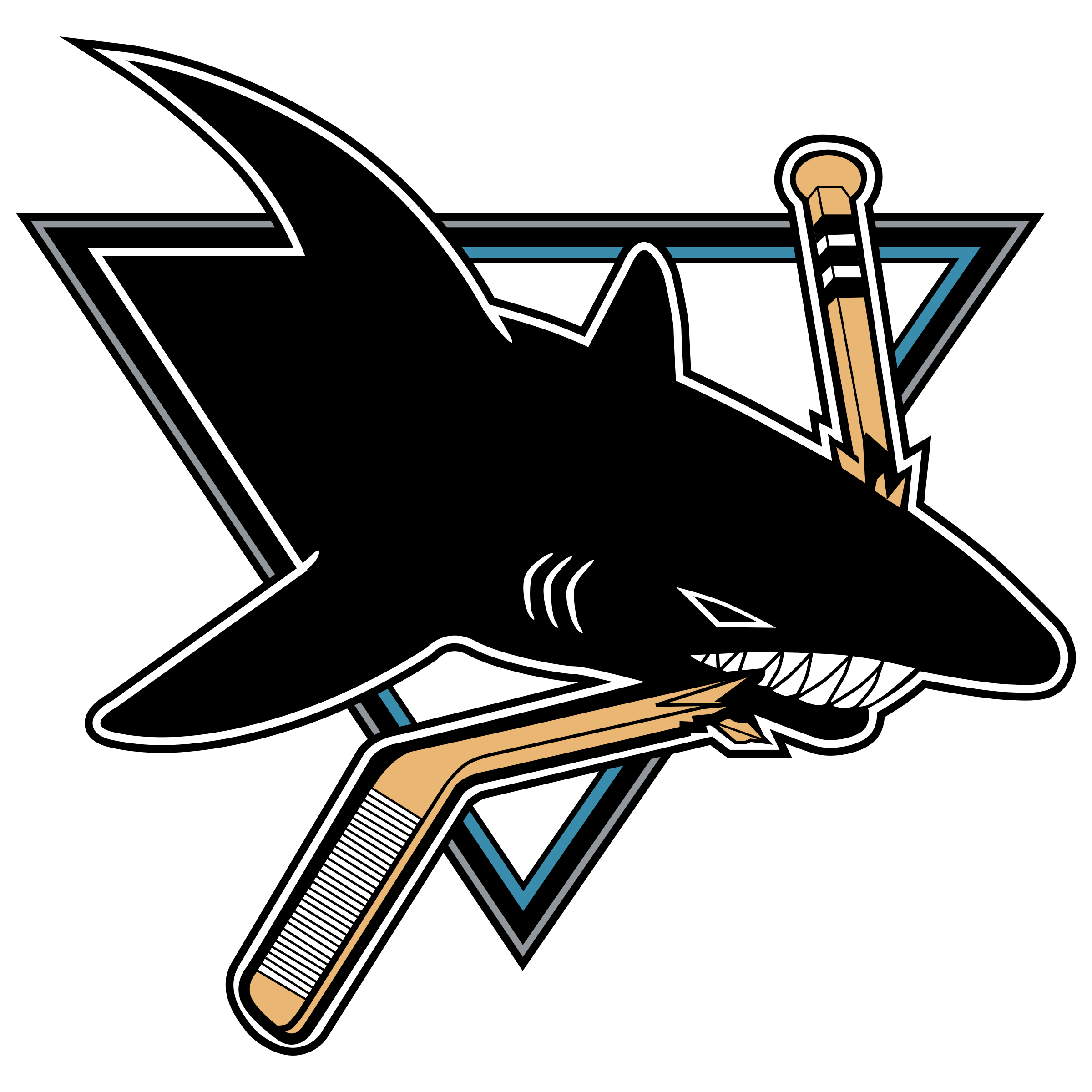 San jose sharks logo. Clipart shark vector
