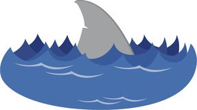 Fin pencil and in. Clipart shark water