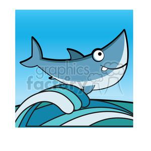 Clipart shark water. Cartoon great white clip