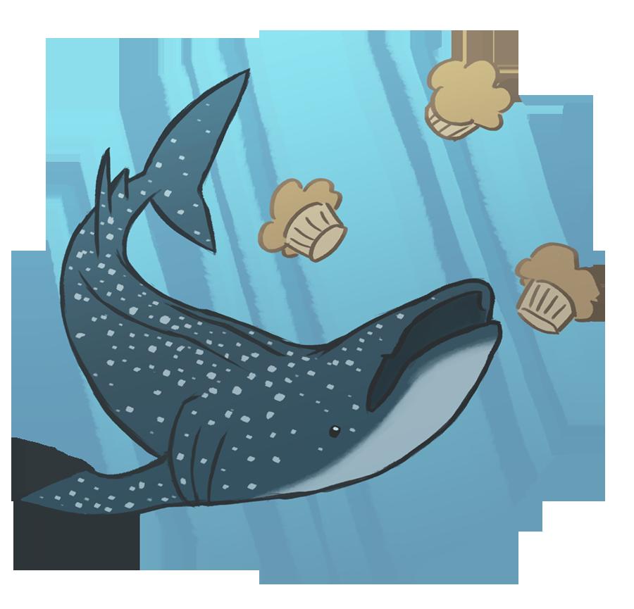 Clipart shark zebra shark. Whale muffins by pyuan