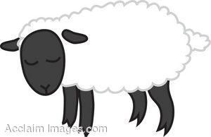 Lamb clipart sad. Black and white panda