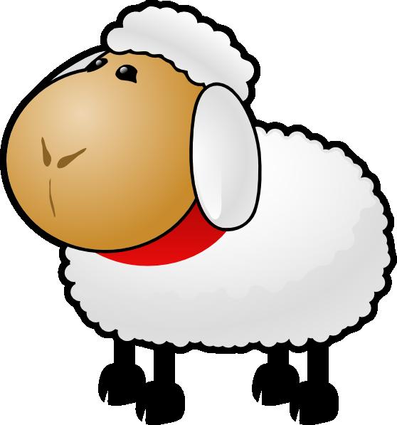 Fuzzy Cartoon Sheep Clip Art at Clker