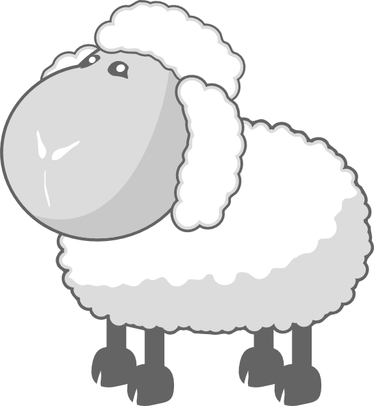 Sheep in gray clip. Lamb clipart animated