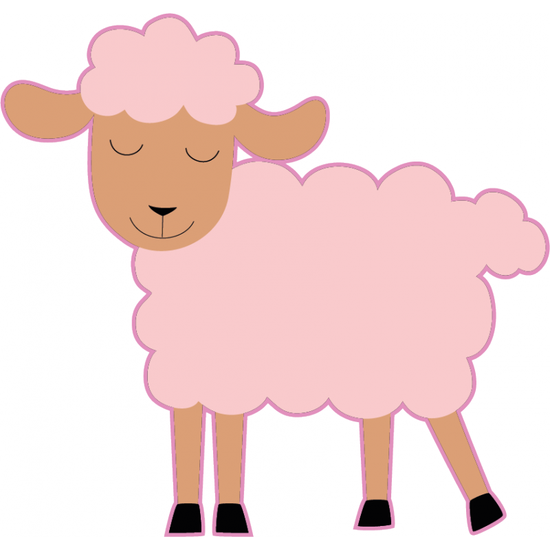 Wall stickers for baby. Sheep clipart asleep