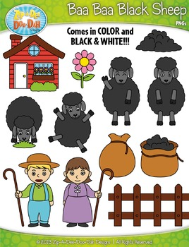 Lamb clipart baa baa black sheep. Free nursery rhyme zip