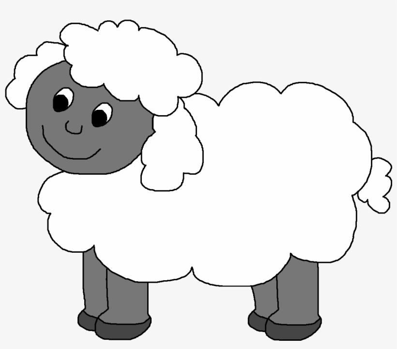 Black and white clip. Clipart sheep barnyard